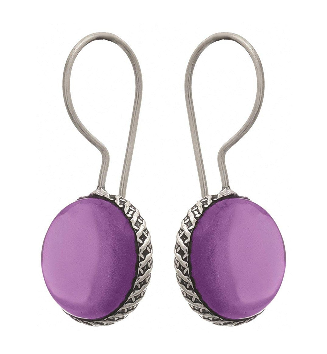 Traditional Ethnic Handmade German Silver Plated Oxidised Pink Opal Gemstone Designer Earring For Women & Girls.