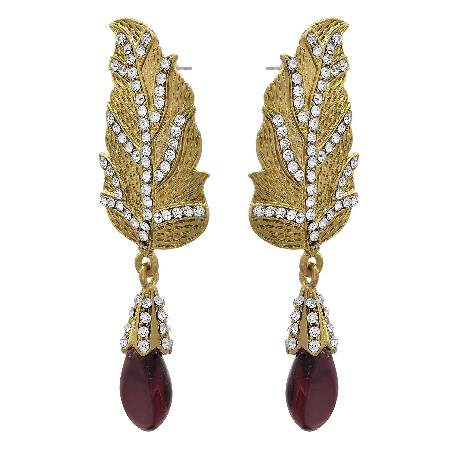 JFL - Traditional Ethnic One Gram Gold Plated Pearl Designer Earring for Women & Girls.