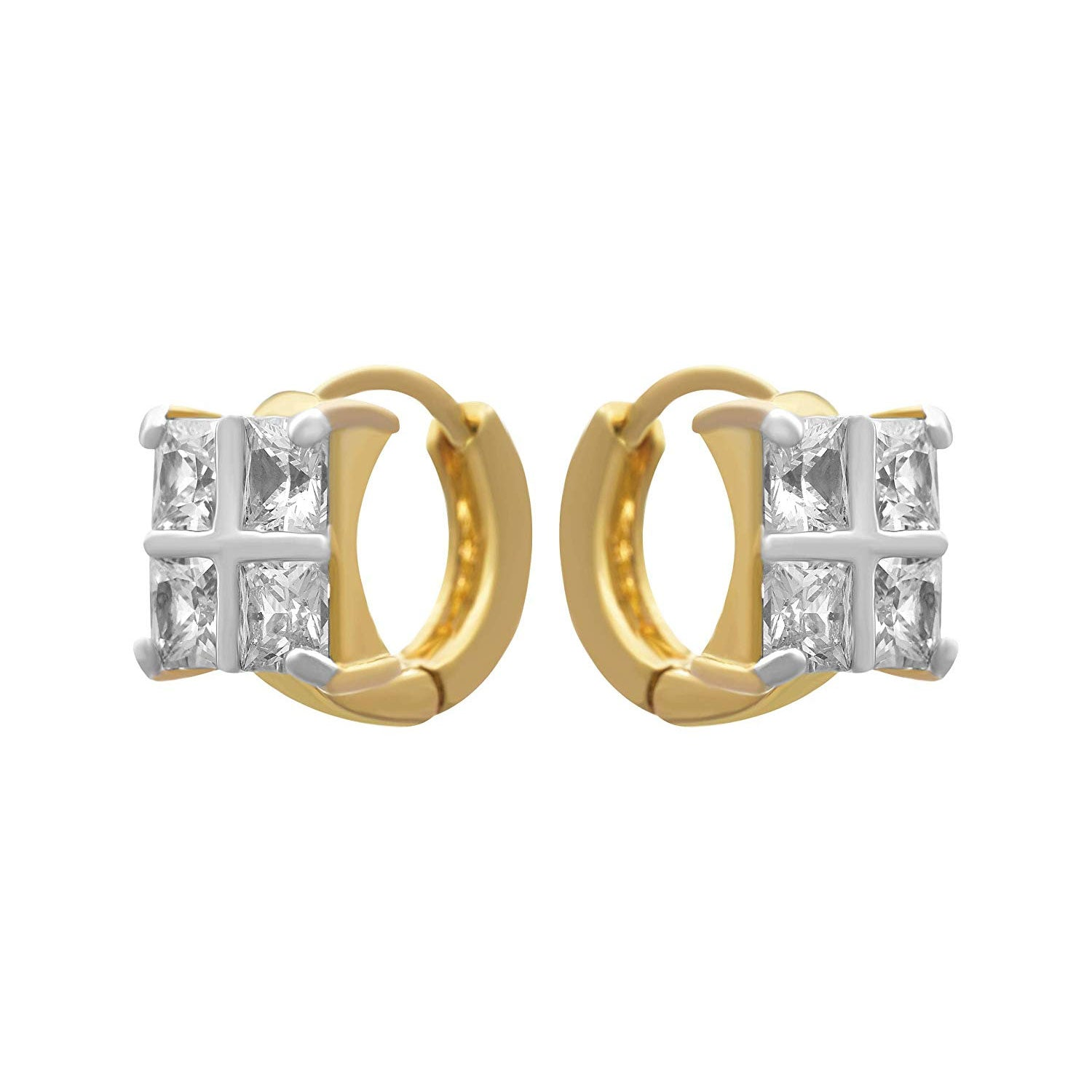 JFL - Jewellery for Less Fusion Ethnic One Gram Gold Plated American Diamond Earring For Girls And Women.
