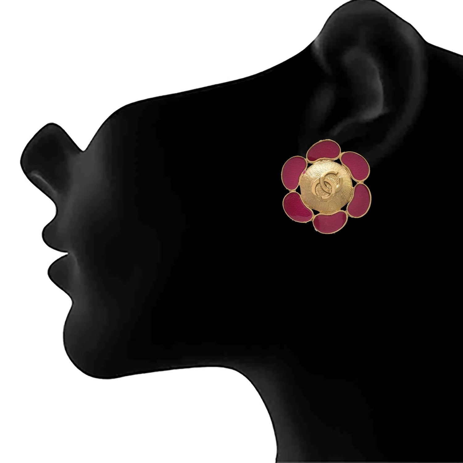 JFL - Traditional Ethnic One Gram Gold Plated Floral Designer Earring for Girls and Women.