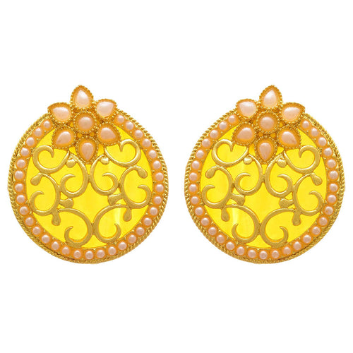 JFL- Charismatic Changeable One Gram Gold Plated Designer Earrings Studded with Pearls for Women and Girls