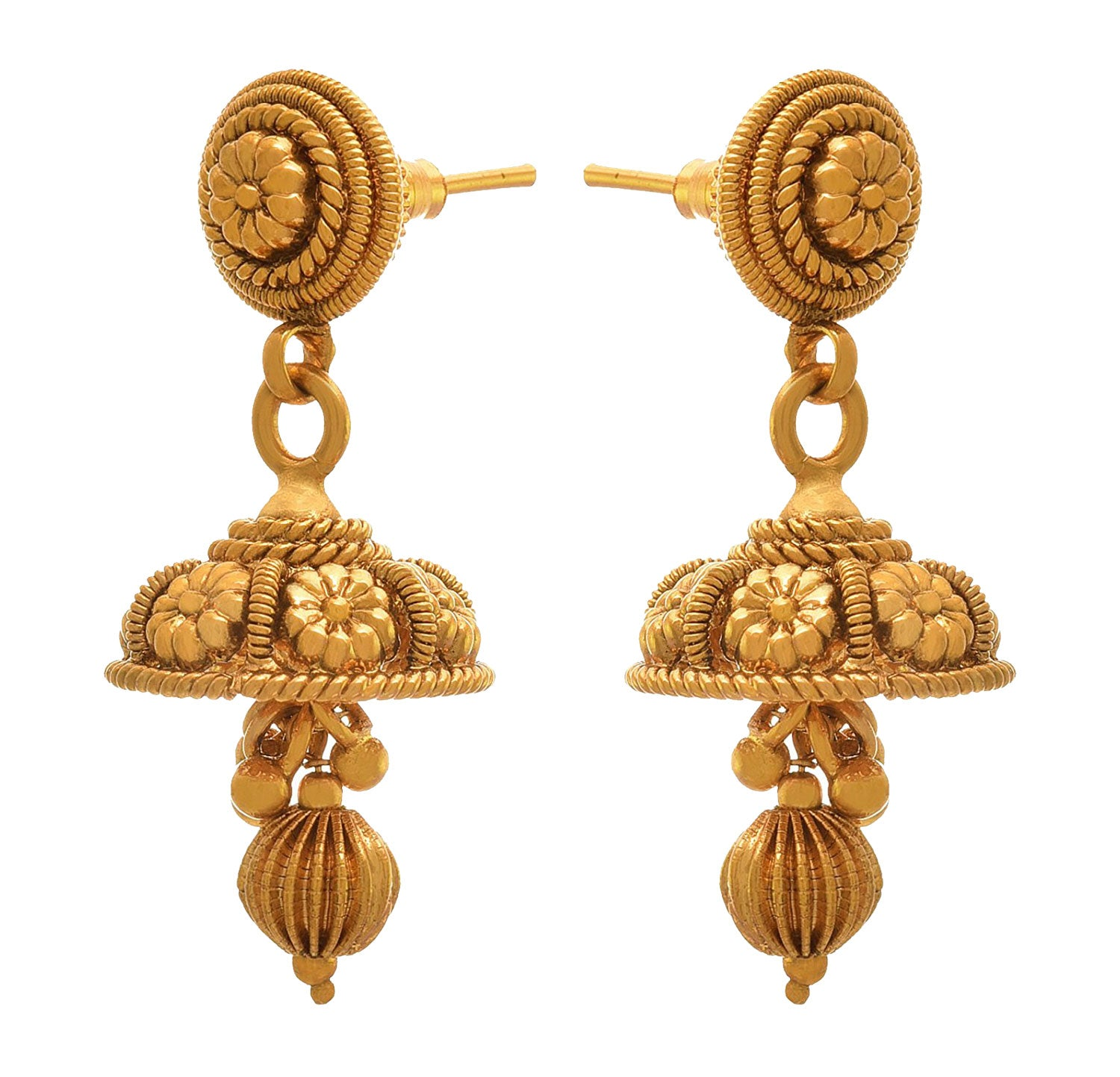 JFL- Traditional Ethnic One Gram Gold Plated Designer Earring for Women