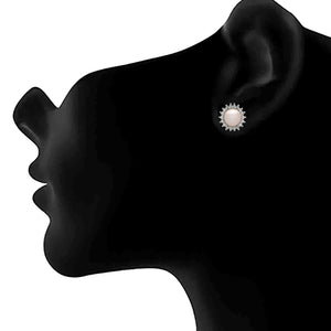 JFL - Fusion Ethnic One Gram Gold Plated Cz American Diamond Designer Stud Earring for Women & Girls