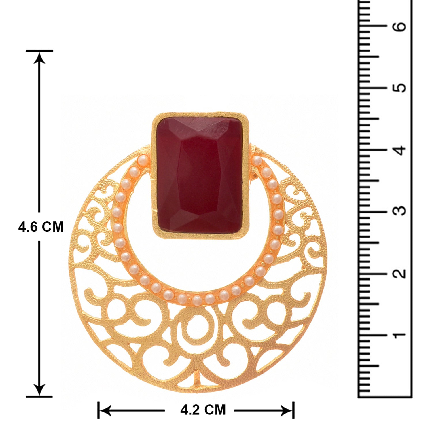 JFL - Traditional Ethnic and Fusion One Gram Matt Gold Plated Designer Earring for Girls and Women