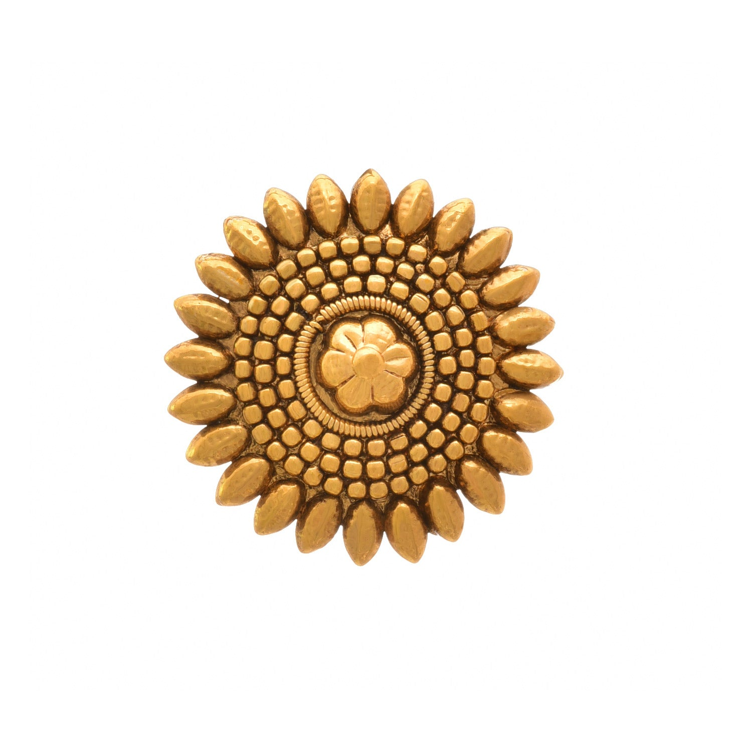 JFL-Traditional and Ethnic One Gram Gold Plated Floral Designer Fancy Finger Ring for Women and Girls