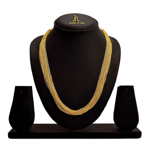 JFL - Jewellery for Less Traditional Ethnic Fusion One Gram Gold Plated Designer Necklace for Women