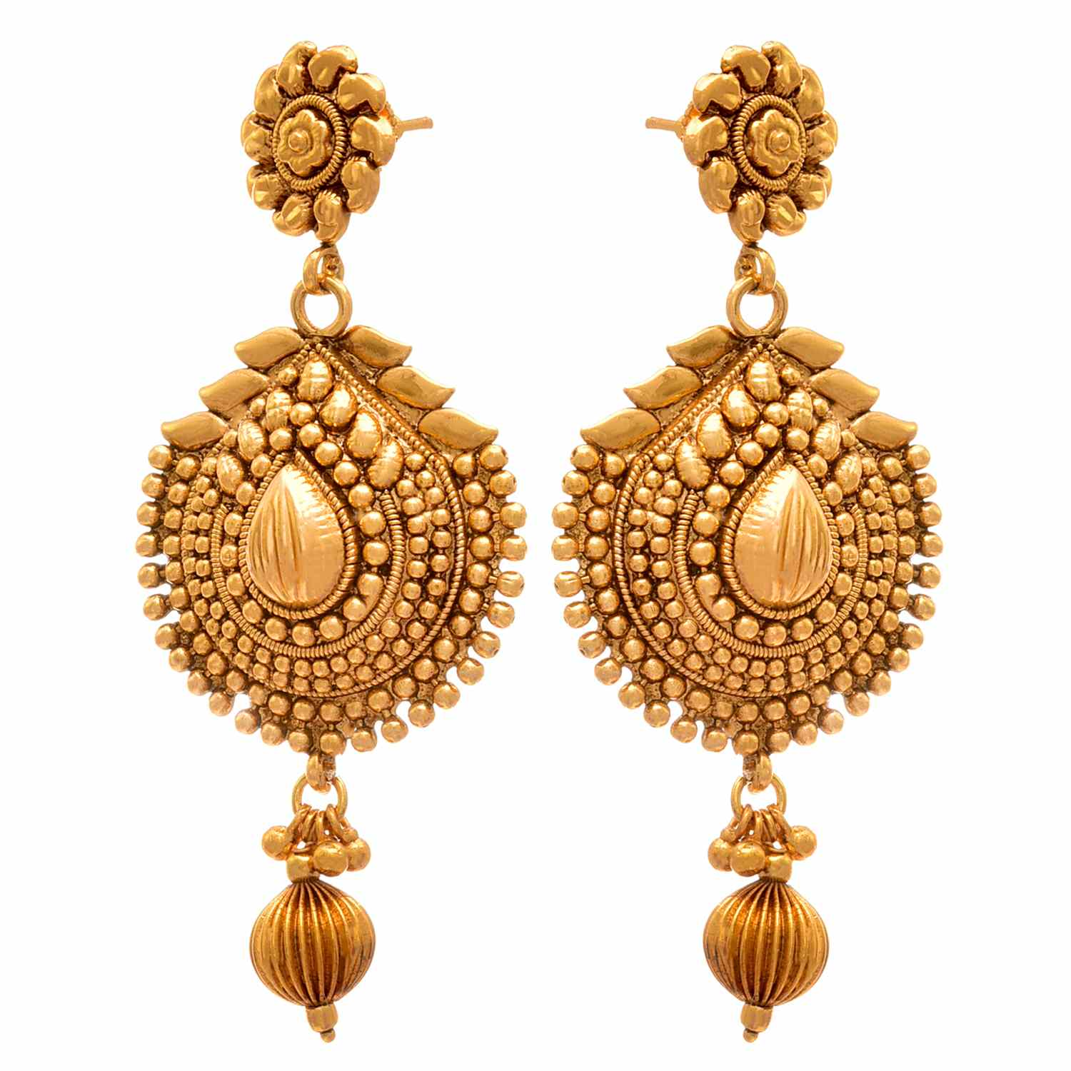 Traditional Ethnic One Gram Gold Plated Long Necklace / Jewellery Set For Women
