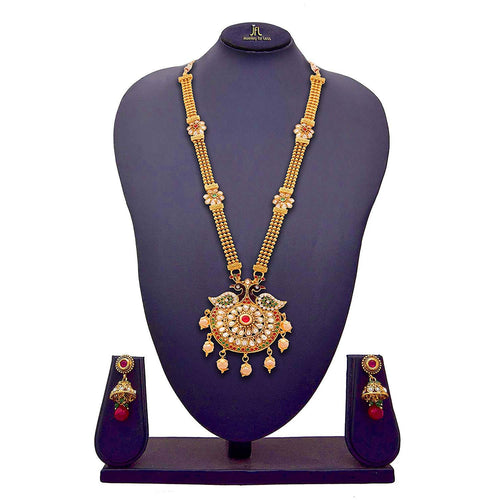 Jewellery For Less Golden Gold-Plated Jewellery Set For Women