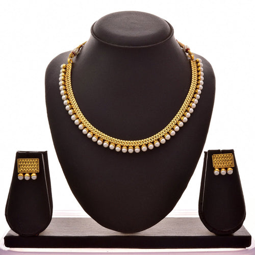 BFC- Pearl Necklace Set One Gram Gold Plated for Woman and Girls