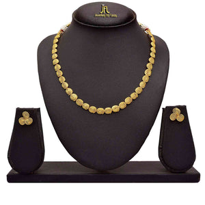 JFL - Traditional Ethnic One Gram Gold Plated Spiral Designer Necklace Set with Earring for Women and Girls.