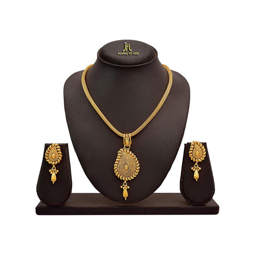 JFL - Jewellery for Less Beautiful Pendant with  Chain & Earring Set for Women & Girls