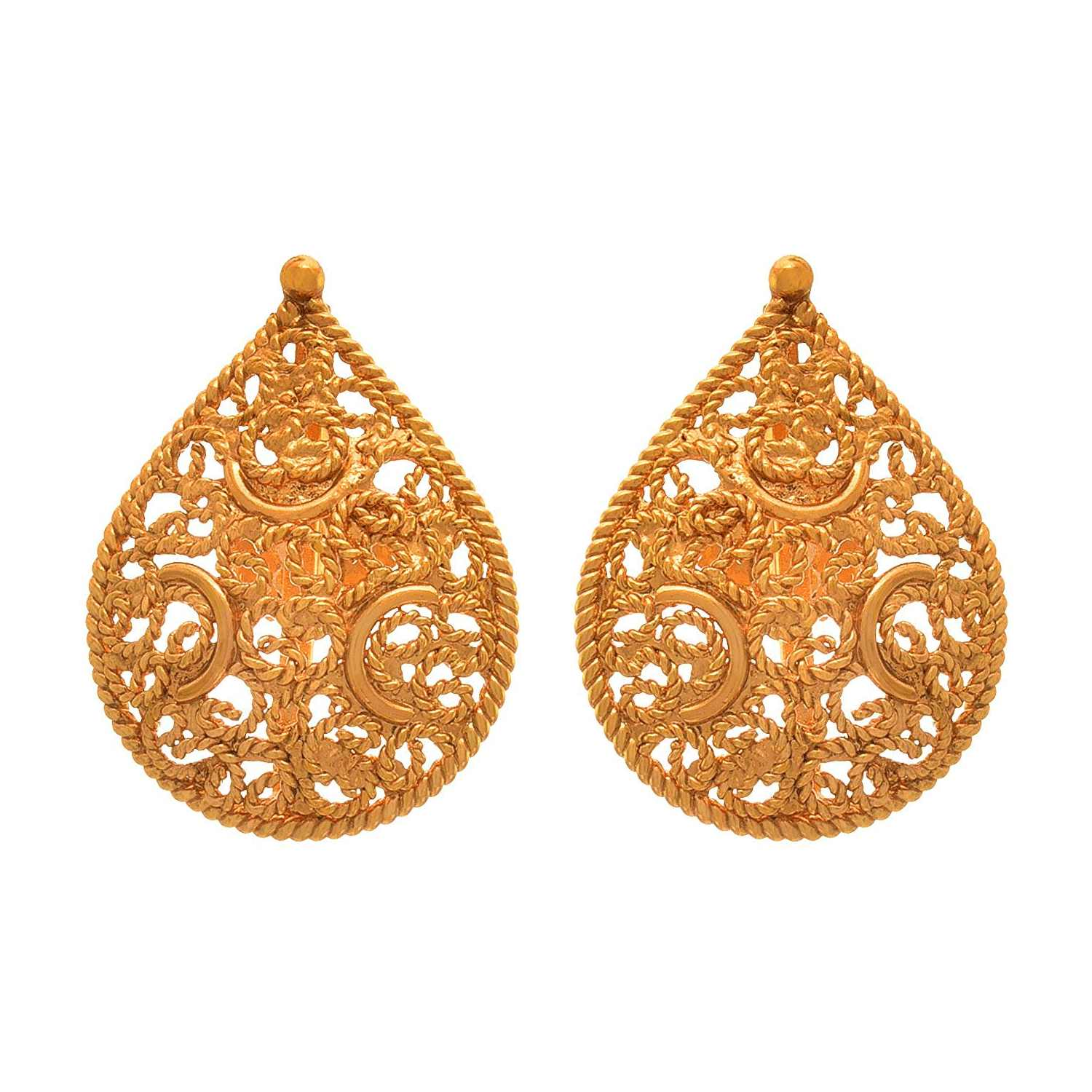 JFL - Traditional Ethnic One Gram Gold Plated Designer Pendant Set for Women and Girls