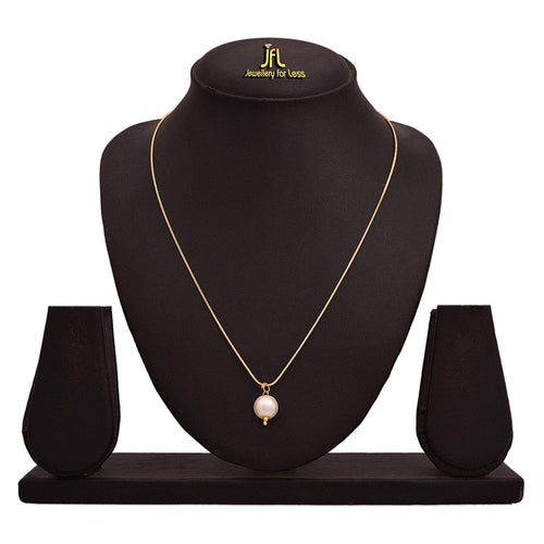 BFC- Buy For Change Casual and Office wear One Gram Gold Plated Pearl Pendant with 18 inches chain for woman and Girl
