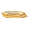 JFL - Traditional Ethnic One Gram Gold Plated Designer Bangle Set for Women - (Set of Six)
