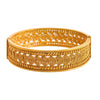JFL - Traditional Ethnic Spiral Designer One Gram Gold Plated Openable Kada for Women & Girls.