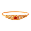 JFL - Jewellery for Less 1g Gold Plated Designer Bangle, Kada for Women & Girls (Red)