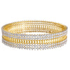 JFL - Fusion Ethnic American Cz Diamond Designer One Gram Gold Plated Bangles for Women