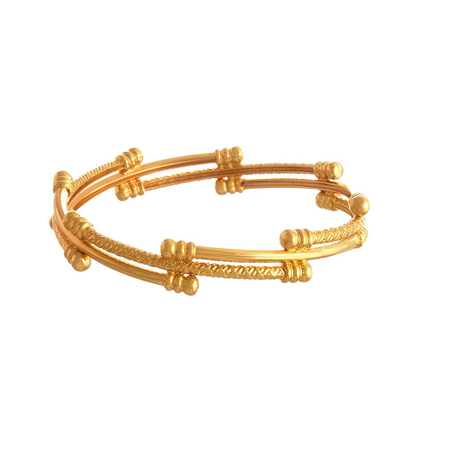 JFL-Jewellery For Less Traditional Ethnic One Gram Gold Plated Designer Bangle For Women