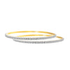 Traditional Ethnic One Gram Gold Plated Cz American Diamond Designer Bangle Set for Women & Girls.