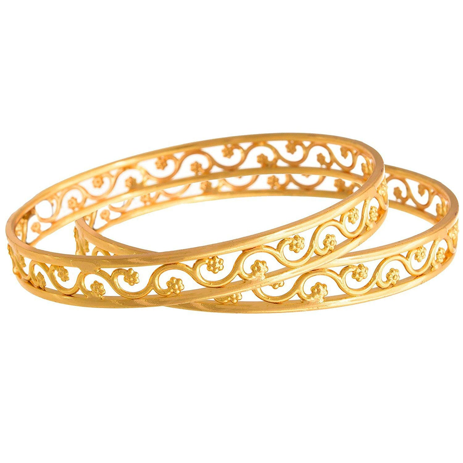 JFL-  Gold Stylish bangles For Girls & Women_Free Size
