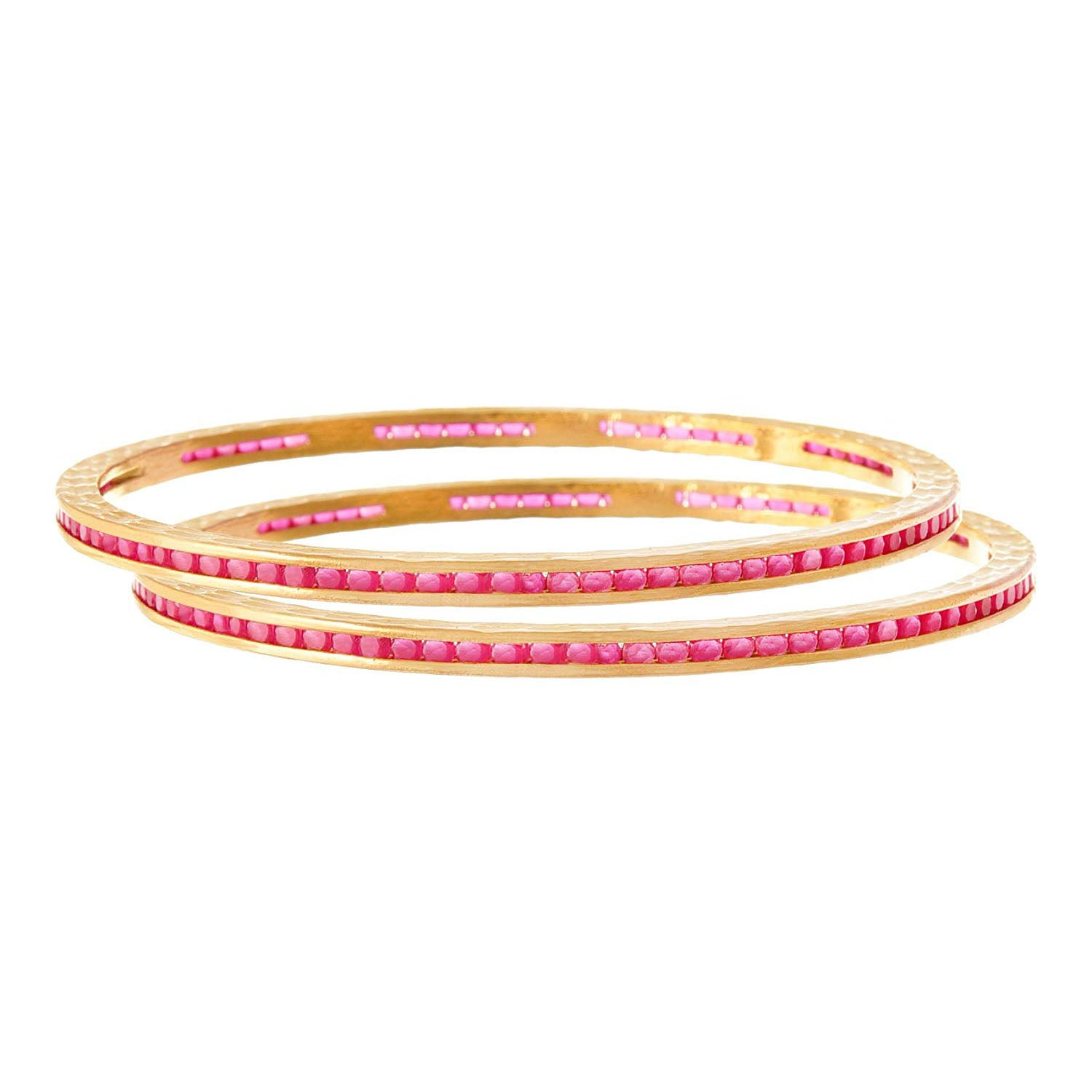 JFL - Traditional Ethnic Fusion Cz American Diamond Designer One Gram Gold Plated Bangles for Women & Girls.