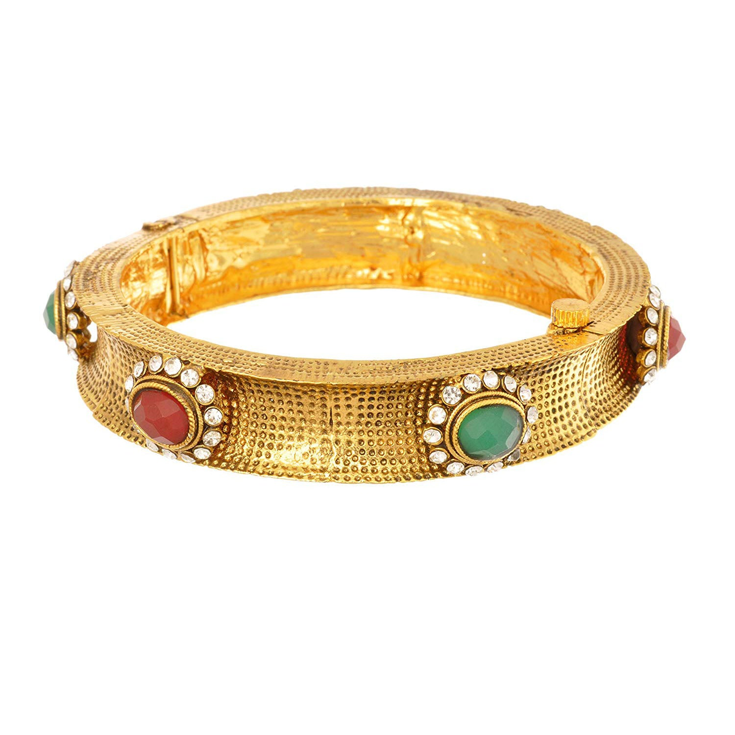 JFL - Awesome Antique Designer One Gram Gold Plated Bangle for Girl and Women.(Openable)