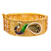 JFL-Traditional Ethnic One Gram Gold Plated Diamond with Meenakari Peacock Designer Openable Kada for Women and Girls.