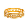 JFL-Gorgeous Golden Diamond & Pearl Designer Bangle Set For Women