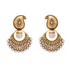 Traditional Ethnic Kaerie One Gram Gold Plated Pearl Polki Designer Earring for Women & Girls