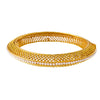 Traditional Ethnic One Gram Gold Plated Gold Bead Designer Openable Bangle Set Studded with Pearl for Women & Girls.