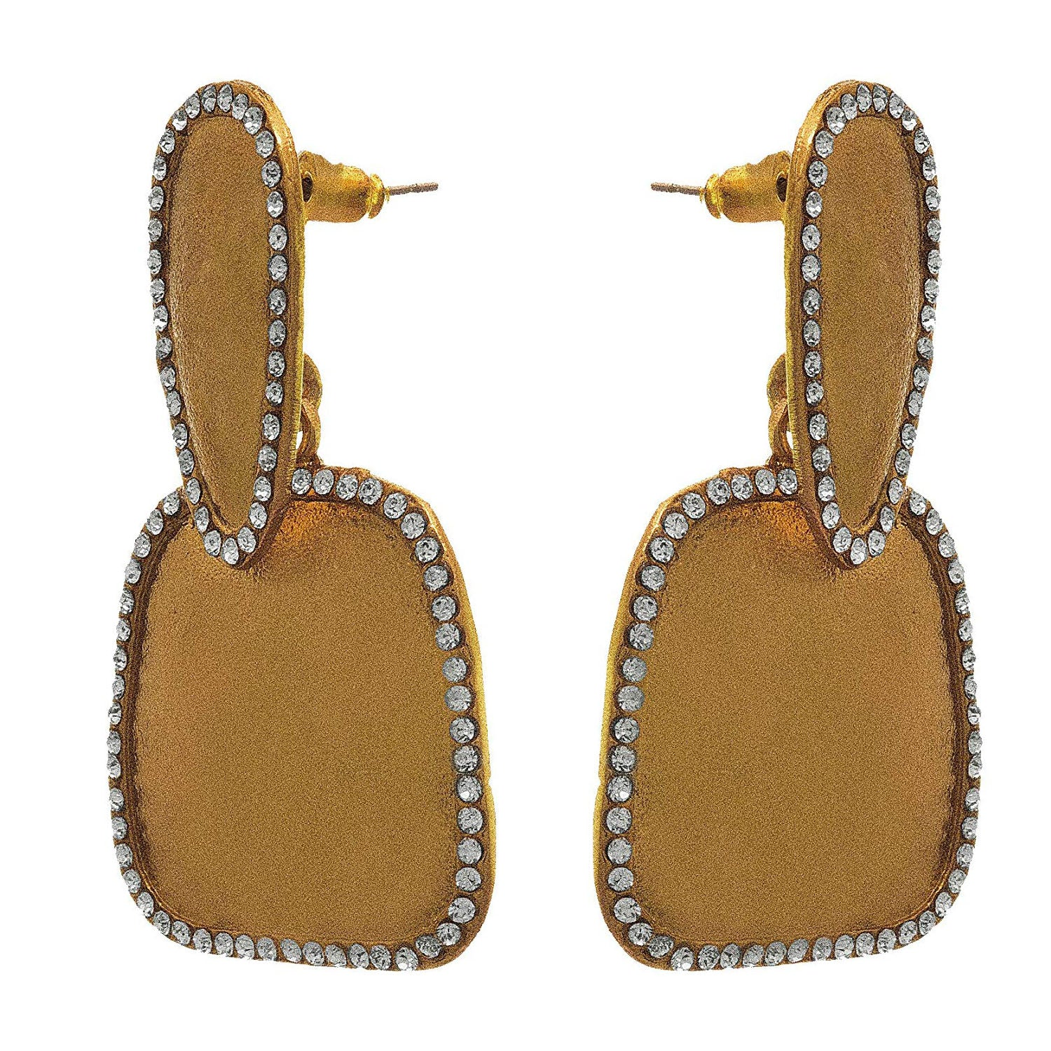 JFL - Traditional Ethnic One Gram Gold Plated Diamond Designer Earring for Girls and Women.