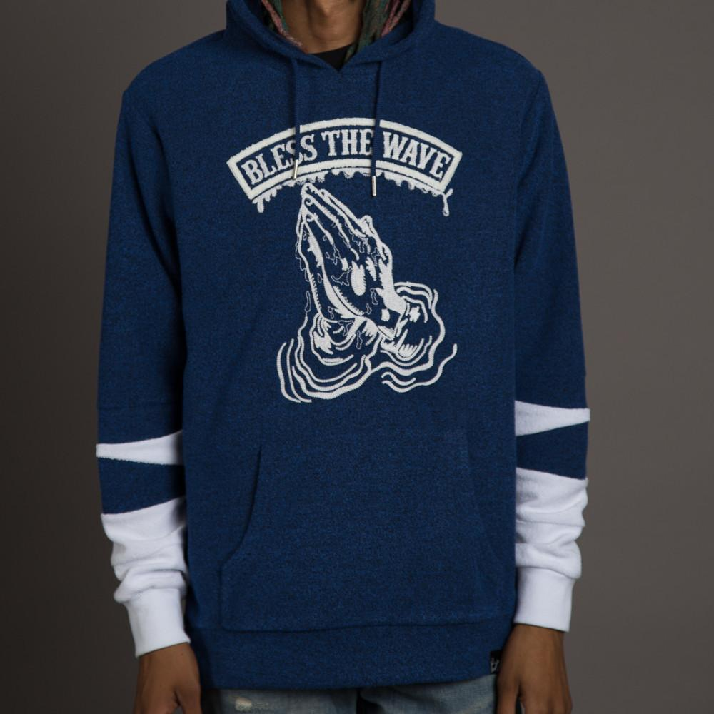Bless the Wave Hoodie in Blue - WHGHOLLYWOOD
