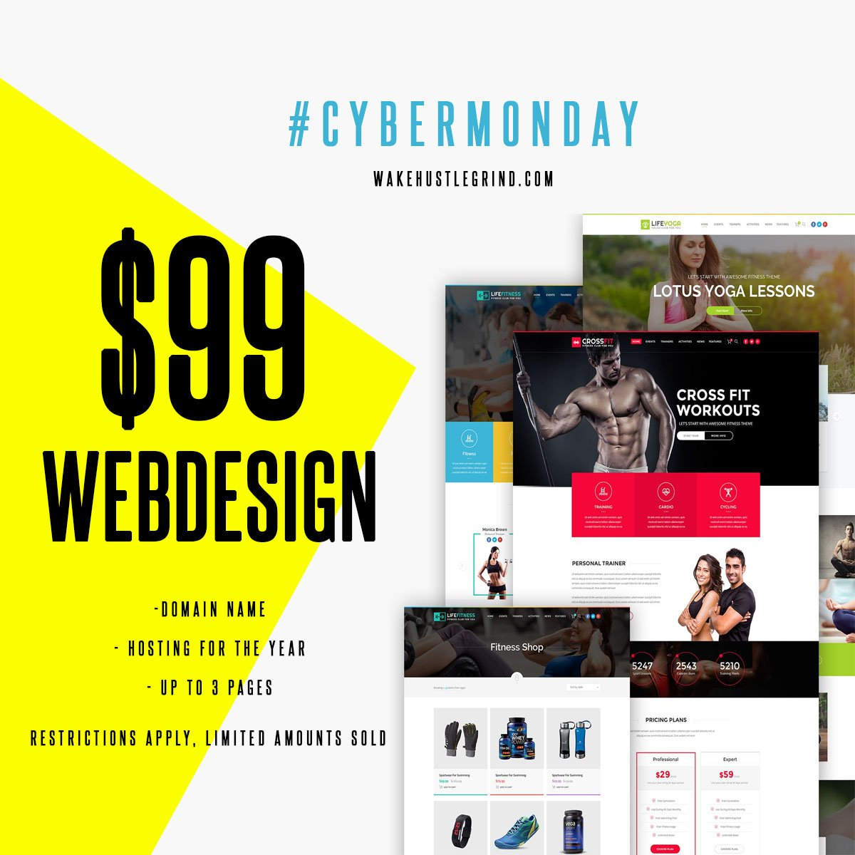 WEB DESIGN - CYBER MONDAY ONLY - WHGHOLLYWOOD