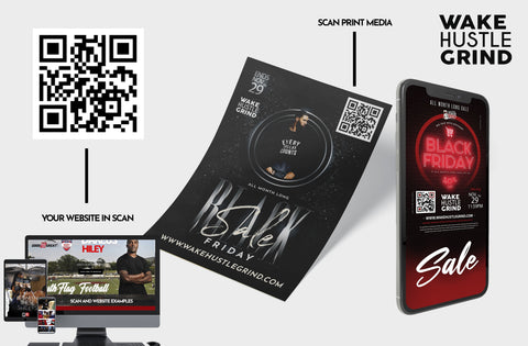 Scan Card Flyers + 1 Page Website