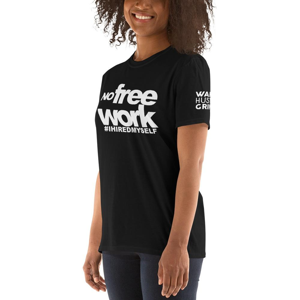 No Free Work Womens Black Tee - WHGHOLLYWOOD