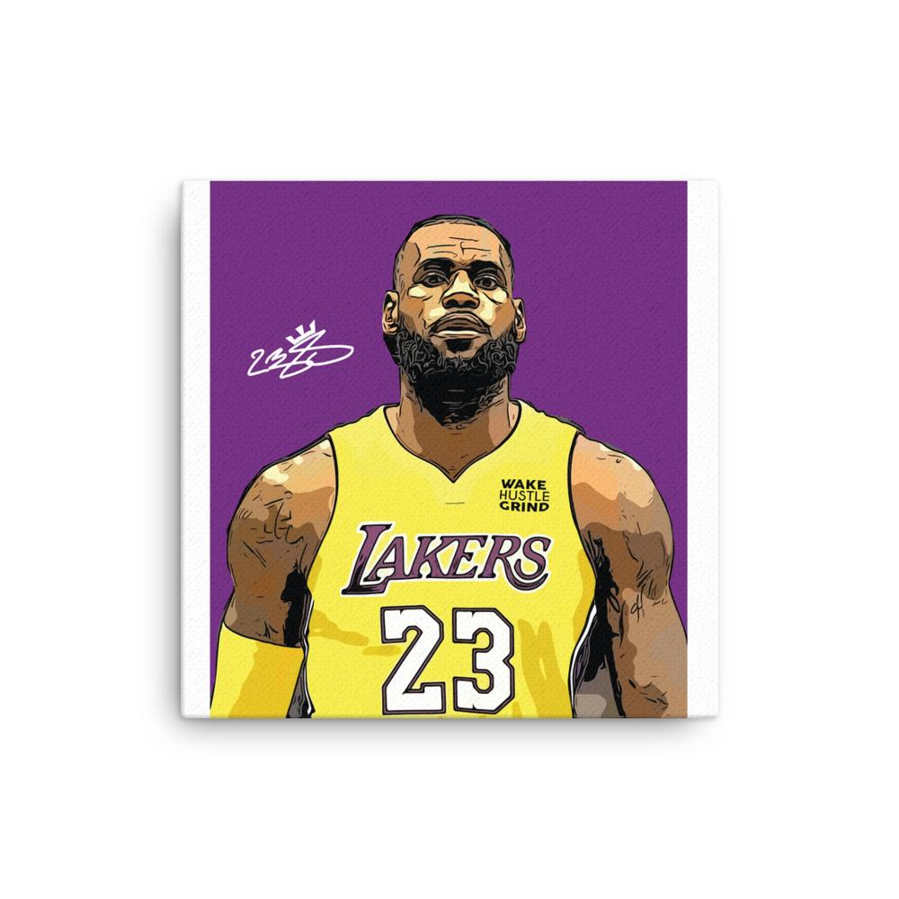 Follow My Dreams Lebron James Lakers Canvas - WHGHOLLYWOOD