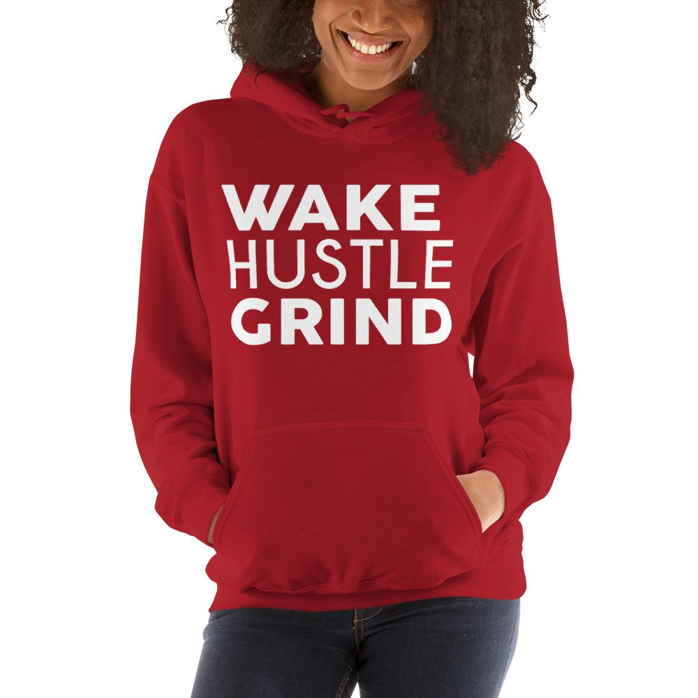 Unisex Wake Hustle Grind Holiday Red Hooded Sweatshirt - WHGHOLLYWOOD