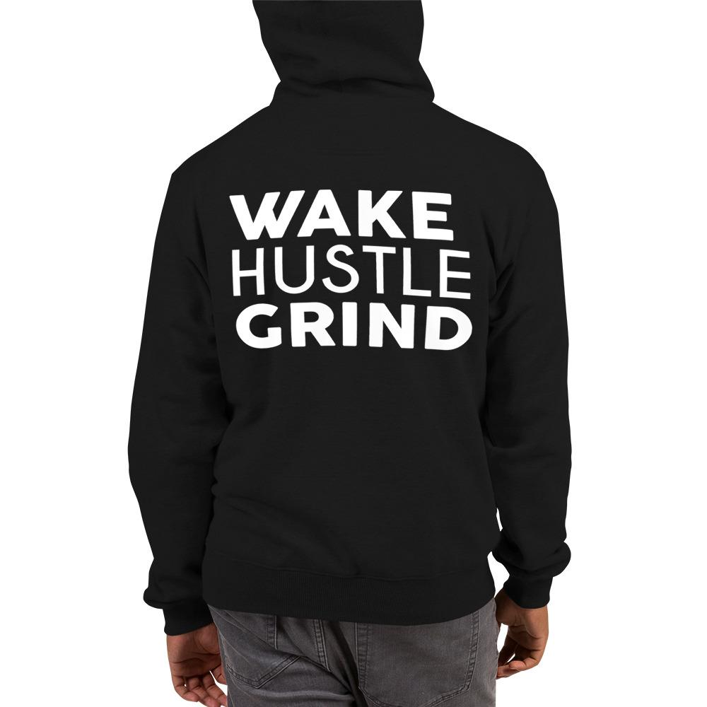 Out Tha Mud x Champion Hoodie - Wake Hustle Grind on back - WHGHOLLYWOOD