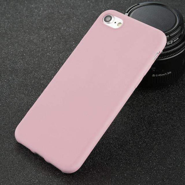 Ultra-thin Solid Color Phone Case For iPhone - Hotline Gadgets