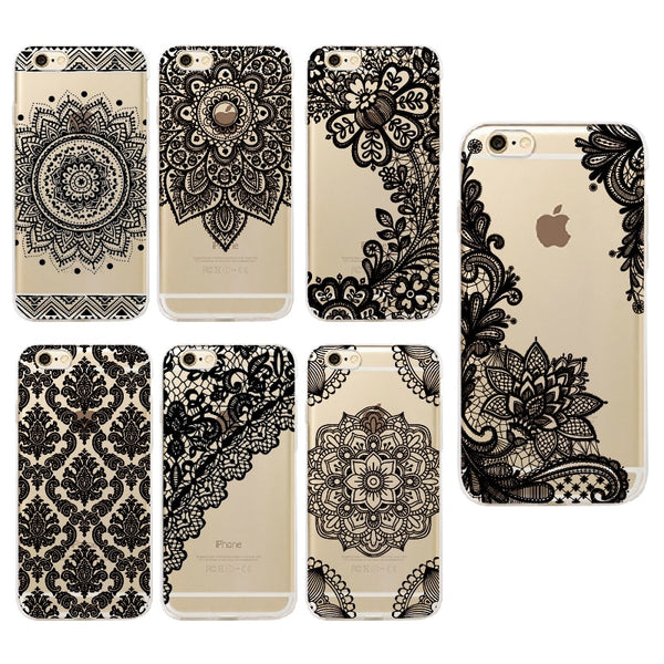 Flower Lace Vintage Case For iPhone