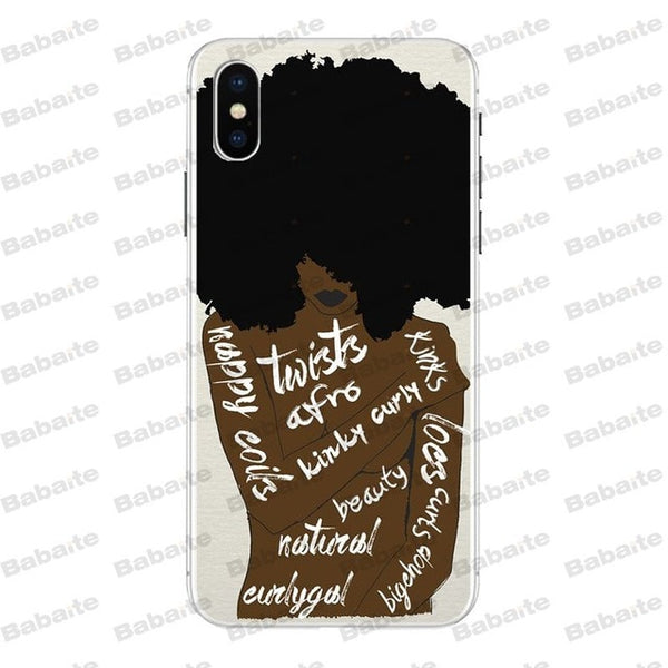 Black Women Print I-Phone Case - Hotline Gadgets