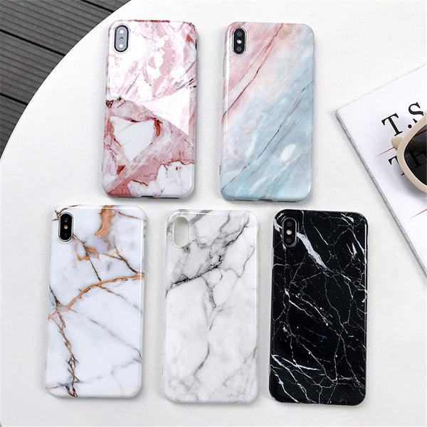 Luxury Marble Soft Back Cover Case For iPhone - Hotline Gadgets