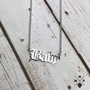 Old E Style Name Necklace