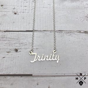 Trinity Style Name Necklace