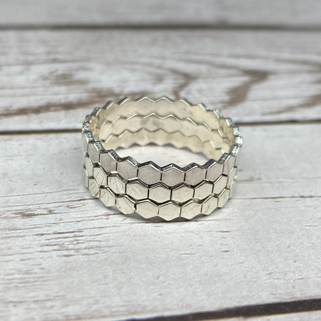 Honeycomb Name Ring
