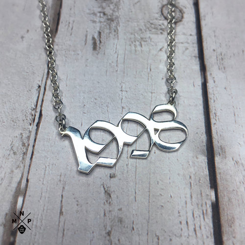Old E Style Date Necklace