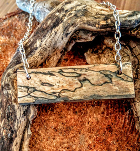 Spalted Tamarind Bar Necklace