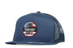 5 Panel Flag Patch Trucker - TailwaterOutfitters