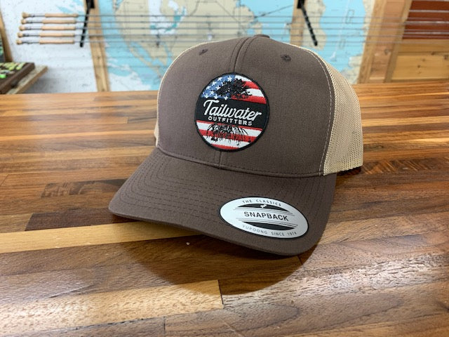 6 Panel Flag Patch Trucker - TailwaterOutfitters