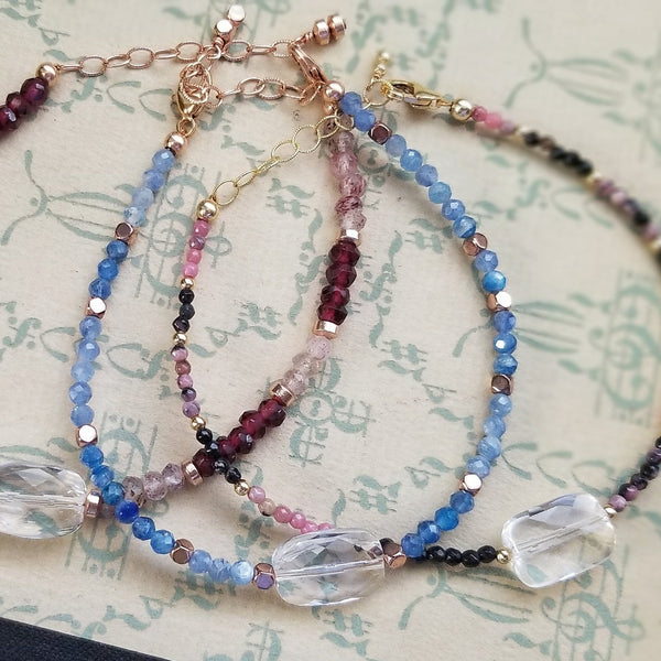 Quartz Crystal Gemstone Bracelets